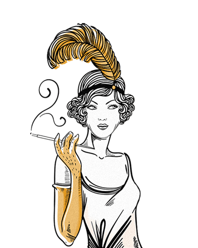 Flapper illustration
