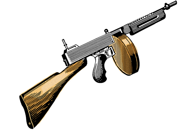 Tommy Gun illustration