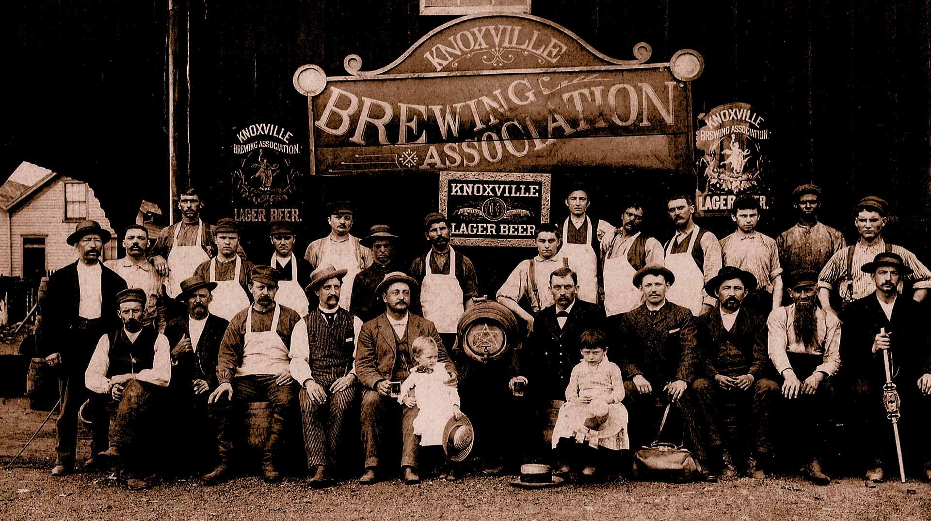Employees outside Knoxville Brewing Association