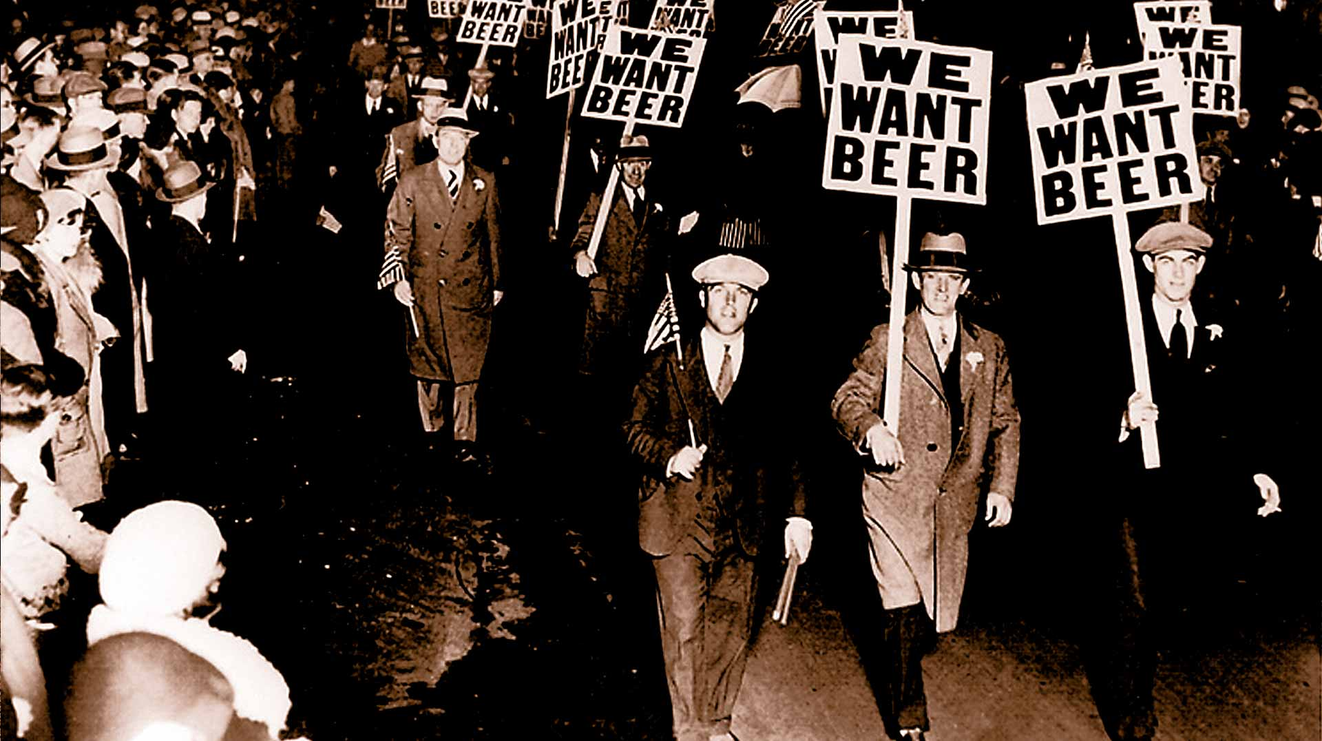 Protesting Prohibition with We Want Beer Signs