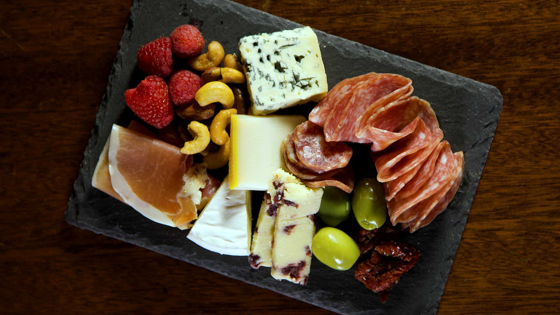 Charcuterie board set for Cocktail Class at Savannah Speakeasy