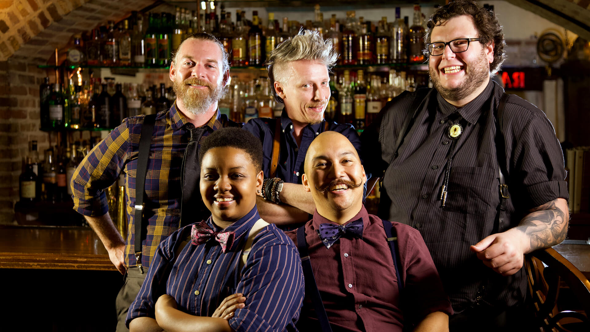 Team of Prohibition bartender experts that teach the Cocktail Classes at Savannah Speakeasy