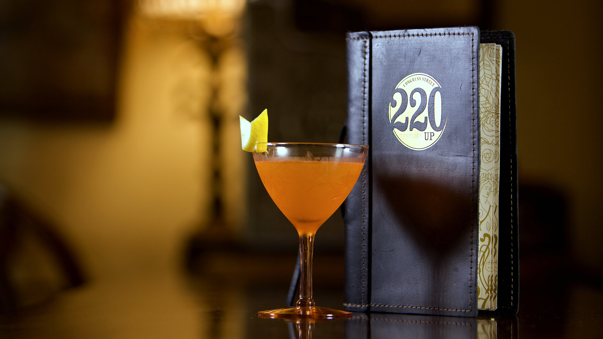 Prohibition style cocktail and drink menu for Savannah Speakeasy